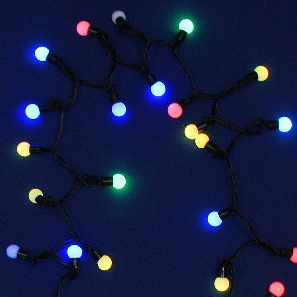 Гирлянда светодиодная 5м,50 ламп LED, Шар, Цветные, авторежимы, прозр.пров., с возм.совмещ. купить оптом и в розницу
