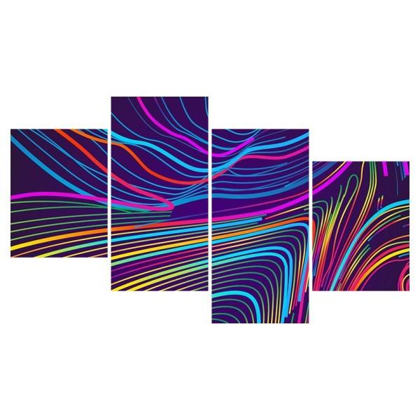 Картина модульная полиптих 60*129 Абстракция диз.3 78-03 купить оптом и в розницу