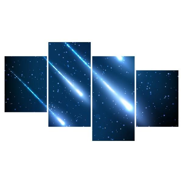 Картина модульная полиптих 60*129 Космос диз.7 80-03 купить оптом и в розницу