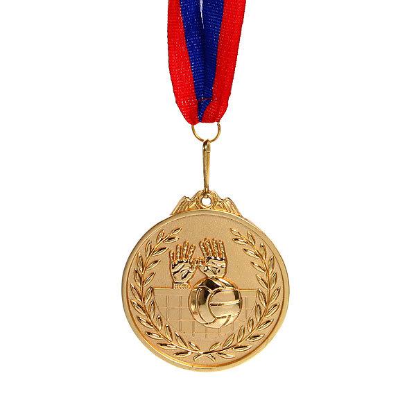 Медаль ″ Волейбол ″- 1 место (6,5см, два цвета) купить оптом и в розницу
