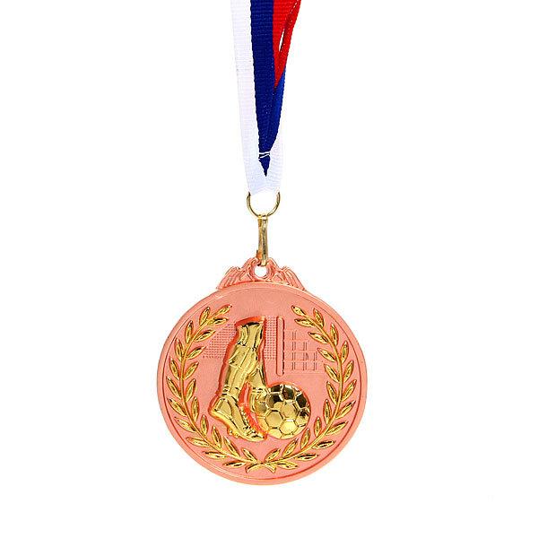 Медаль ″Футбол″ - 3 место (6,5см, два цвета) купить оптом и в розницу