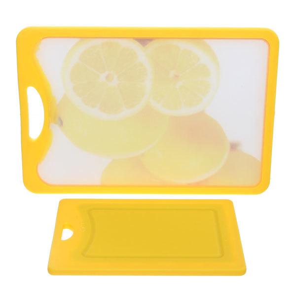Доска разделочная пластиковая в наборе 2шт ″Лимоны″ (29*25*0,8см,20*14*0,8см) купить оптом и в розницу