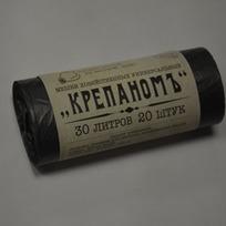 Мешки для мусора 30л-20шт в рулоне КРЕПАНОМЪ 1/50 купить оптом и в розницу