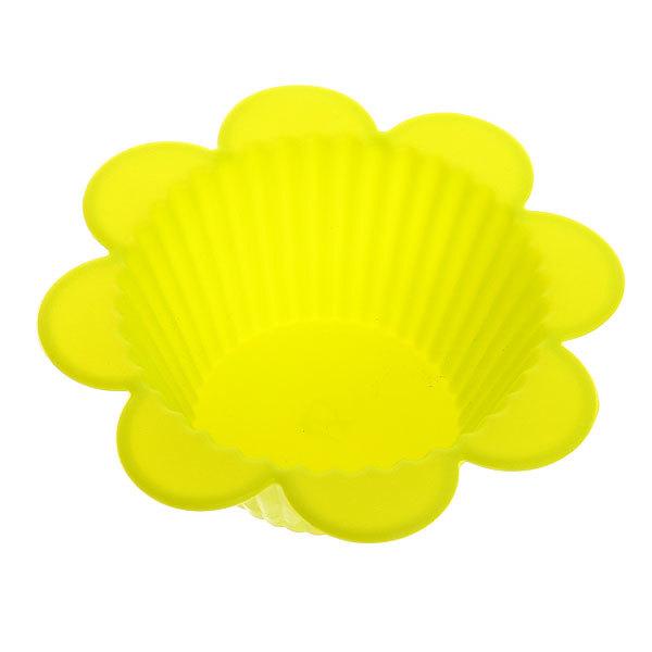 Форма силиконовая ″Цветок″ 3 шт 9 см рифленый купить оптом и в розницу
