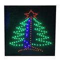 Световое табло LED 45*55см ″Ёлка″, 220B 3 цвета (LB-S17) купить оптом и в розницу