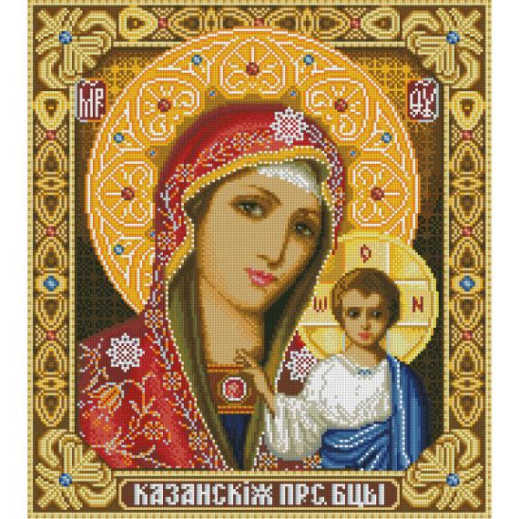 Набор ДТ Картина стразами Казанская Богородица АЖ-1065 купить оптом и в розницу