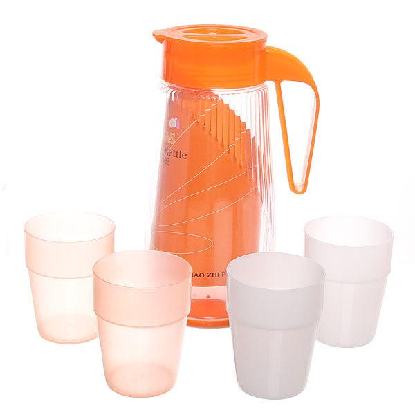 Набор питьевой 5 предметов: кувшин 1,5л, 4 стакана 825-1 купить оптом и в розницу