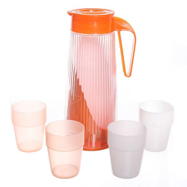 Набор питьевой 5 предметов: кувшин 2л, 4 стакана (1) купить оптом и в розницу