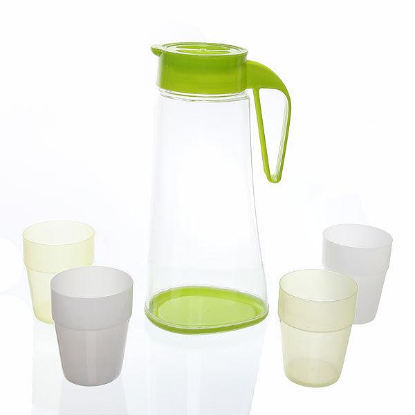 Набор питьевой 5 предметов: кувшин 2л, 4 стакана (2) купить оптом и в розницу