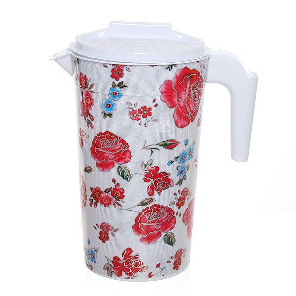 Кувшин пластиковый 2л ″Цветы″ купить оптом и в розницу