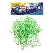 Украшение декоративное ″Кристаллы″ 100гр зеленые купить оптом и в розницу