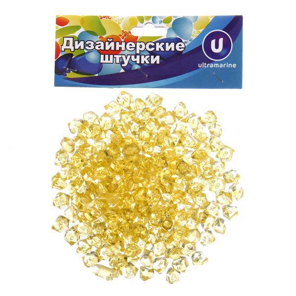 Украшение декоративное ″Кристаллы″ 100гр желтые купить оптом и в розницу