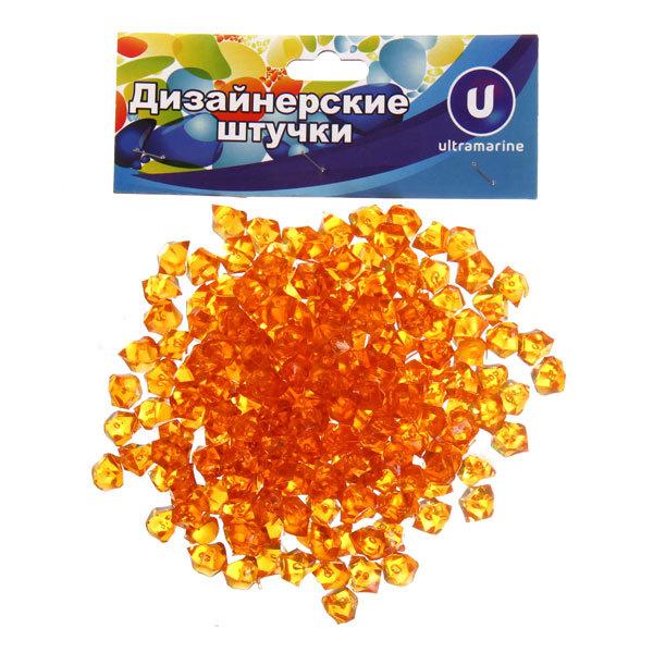 Украшение декоративное ″Кристаллы″ 100гр оранжевые купить оптом и в розницу