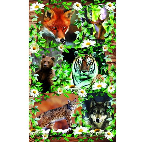 Наклейки Лесные животные 1888 /Квадра/ купить оптом и в розницу