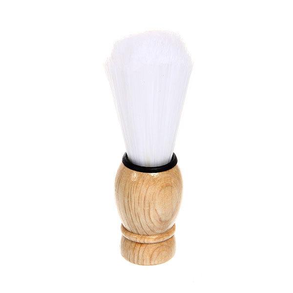 Помазок для бритья, белый ворс, цвет ручки натуральное дерево 9,5см купить оптом и в розницу