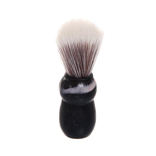 Помазок для бритья, серый ворс, цвет ручки черный 8,5см купить оптом и в розницу