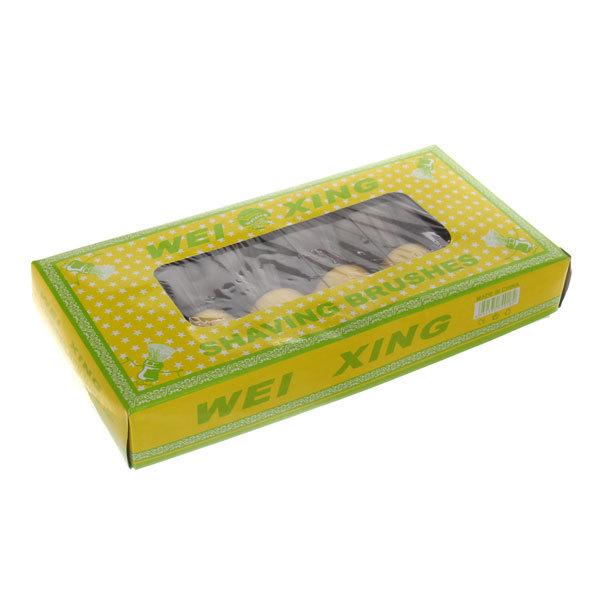 Помазок для бритья, серый ворс, цвет ручки двухцветный 10см купить оптом и в розницу