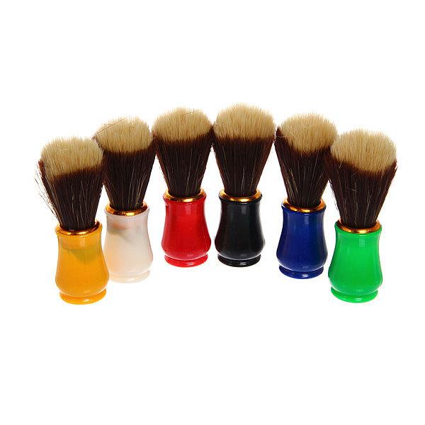 Помазок для бритья, двухцветный ворс, цвет ручки микс, 10см купить оптом и в розницу