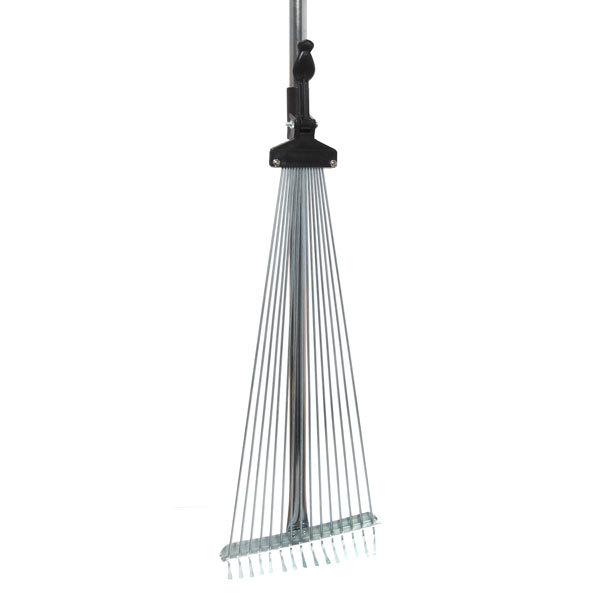 Грабли веерные алюминиевые раздвижные 15 зубьев с черенком 1200мм CR3012 купить оптом и в розницу