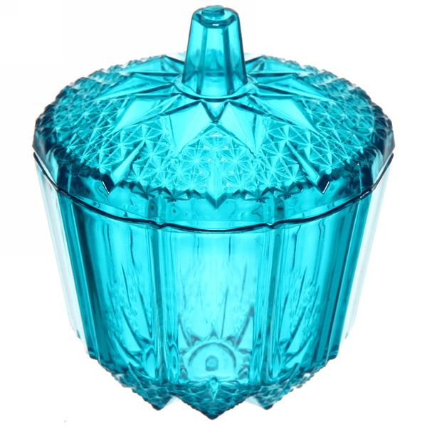 Сахарница 200мл ″Ажур″ голубая купить оптом и в розницу