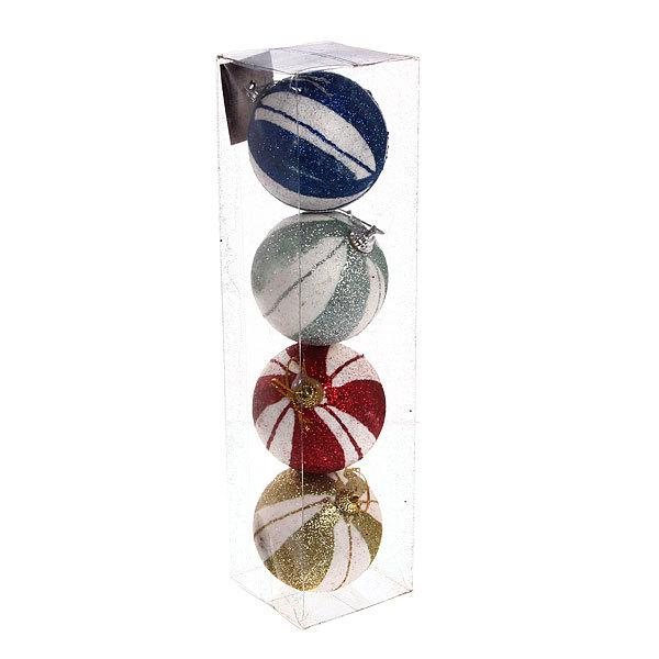 Новогодние шары ″Цирковые″ 7см (набор 4шт.) купить оптом и в розницу