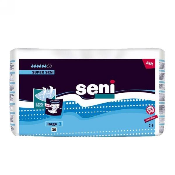 Подгузники Seni Super Large (№3 об.100-150 см) по 30 шт. купить оптом и в розницу