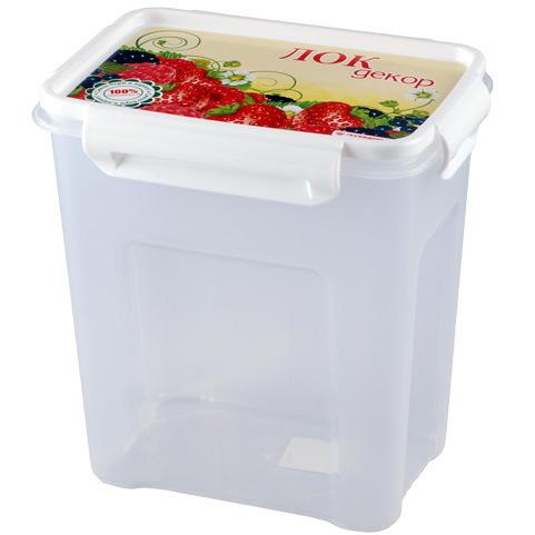 Контейнер пластиковый пищевой ″Лок декор″ 1,8л прямоугольный *26 купить оптом и в розницу