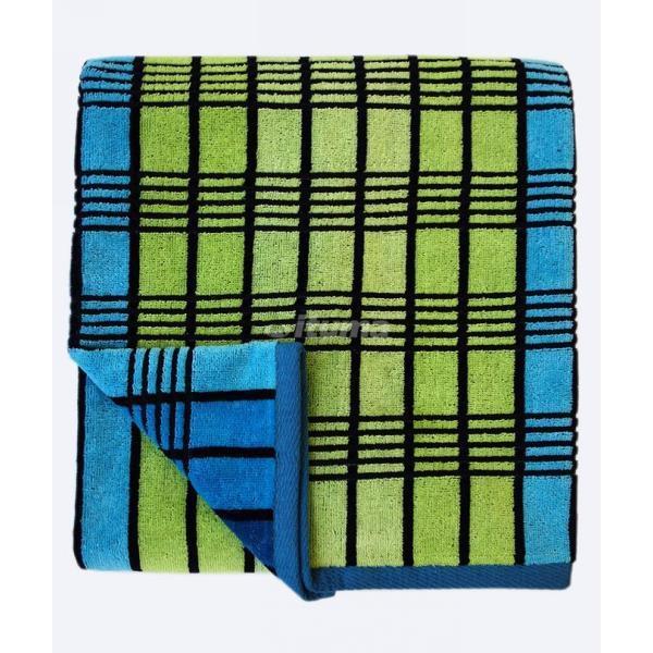 Махровое полотенце 50*100см черно-голубое пестротканное пляжное ЖК100-4-118-060 купить оптом и в розницу