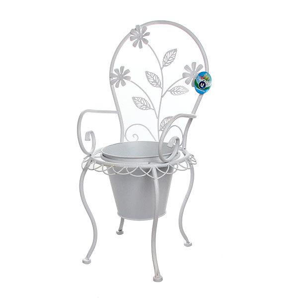 Кашпо для цветов садовое стульчик ″Луиза″ 27х30х57см 1218 купить оптом и в розницу