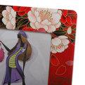 Фоторамка из керамики ″Цветы″ черно-красная 13*18 см купить оптом и в розницу