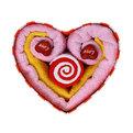 Н-р салфеток ″Сердце и леденец″ 4шт в под.коробке (33*72см,30*30см, 2шт 20*20см) купить оптом и в розницу