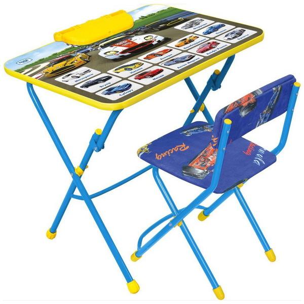 Набор детской мебели ″Никки.Большие гонки″ складной, с пеналом, мягкий стул КУ2/15 купить оптом и в розницу
