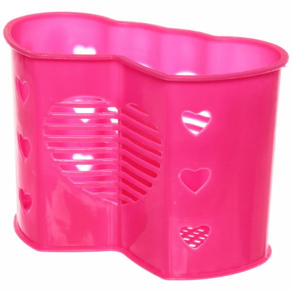 Подставка для столовых приборов ″Сердце″ 17*12*8,5см пластиковая, 3секции купить оптом и в розницу
