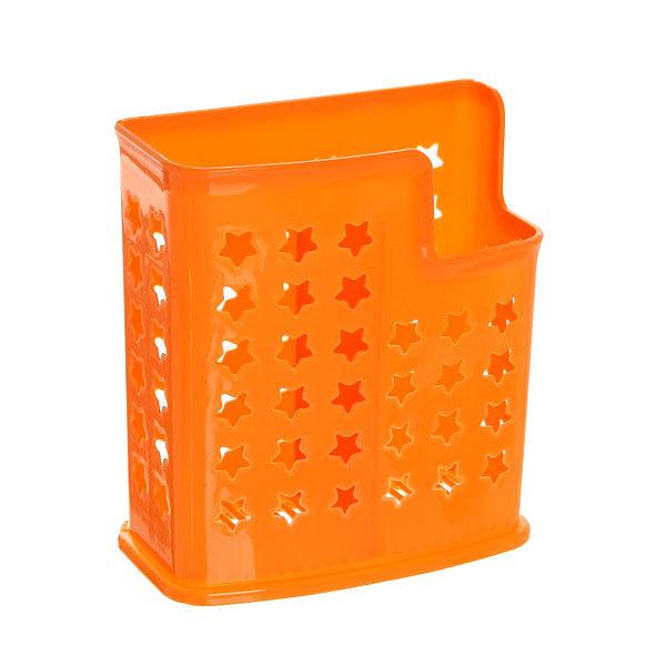 Подставка для столовых приборов 14*12*6см пластиковая, 2 секции купить оптом и в розницу