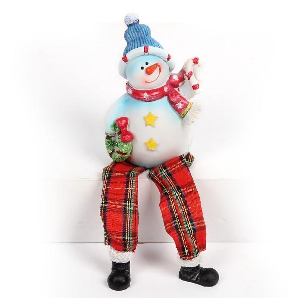 Фигурка ″Снеговичок с подарками″с ножками 10см купить оптом и в розницу