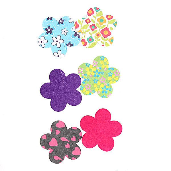 Пилка для ногтей наждачная в пакете фигурная ″Эстетика″, в наборе 2шт, рисунок цветы,6*5,5см купить оптом и в розницу