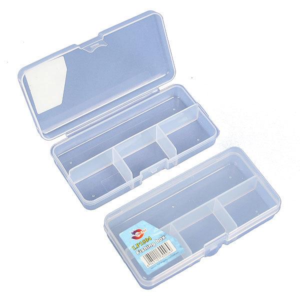 Коробочка для блесен односторонняя, 4 ячейки, цвет белый, LP1504 купить оптом и в розницу