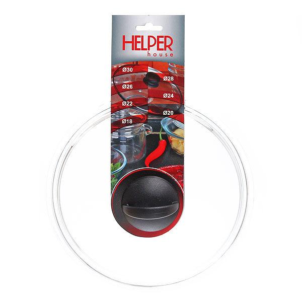 Крышка стеклянная 24 см, термостойкая HELPER купить оптом и в розницу