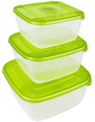 Набор емкостей для хранения пищевых продуктов POLAR квадратных 3 шт. (0,95л; 1,5л; 2,5л)*6 купить оптом и в розницу