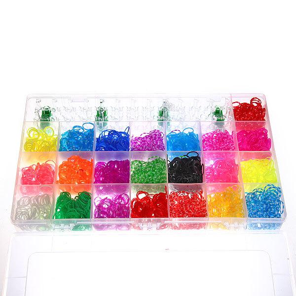 Набор резинок для плетения браслетов 4200шт 22 цвета Прямоугольный купить оптом и в розницу