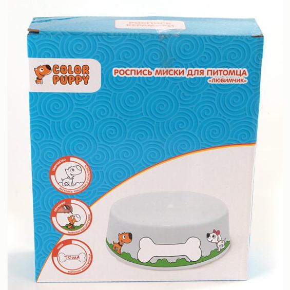 Набор ДТ Роспись керамики Любимчик миска для питомца 95233 Color Puppy купить оптом и в розницу