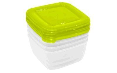 Набор емкостей для хранения пищевых продуктов POLAR квадратных 4 шт. (0,46л) *12 купить оптом и в розницу