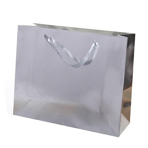 Пакет подарочный ″Серебряный″ голограмма 26*32*11 2600 купить оптом и в розницу