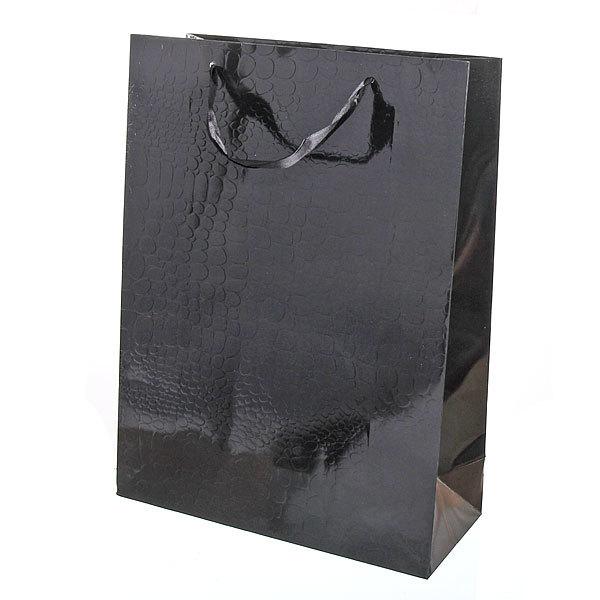 Пакет подарочный ″Элегантный″ 40*30*9 4003D черный купить оптом и в розницу