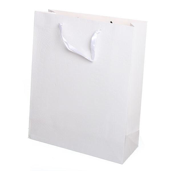 Пакет подарочный ″Элегантный″ 32*26*10 3202Е белый купить оптом и в розницу