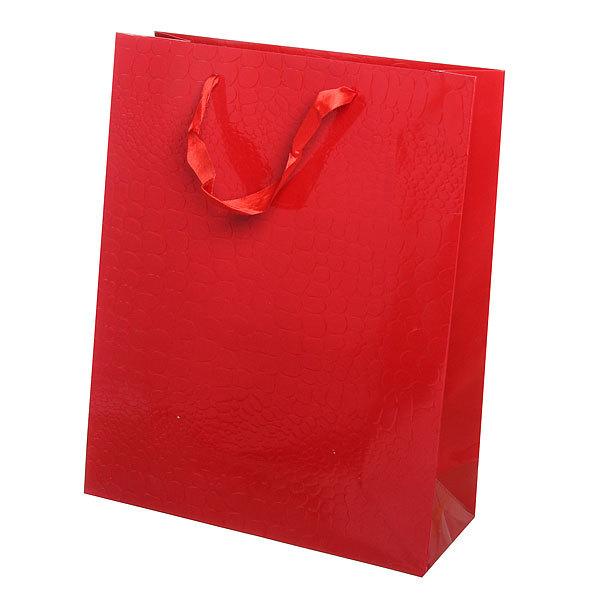 Пакет подарочный ″Элегантный″ 32*26*10 3202А красный купить оптом и в розницу