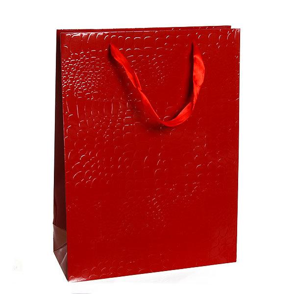 Пакет подарочный ″Элегантный″ 40*30*9 4003А красный купить оптом и в розницу