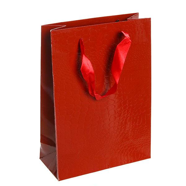 Пакет подарочный ″Элегантный″ 25*18*8 2503В коричневый купить оптом и в розницу