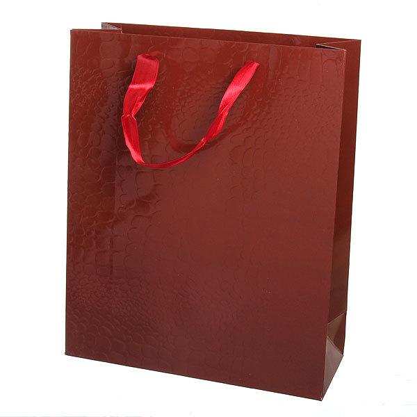 Пакет подарочный ″Элегантный″ 32*26*10 3202В коричневый купить оптом и в розницу