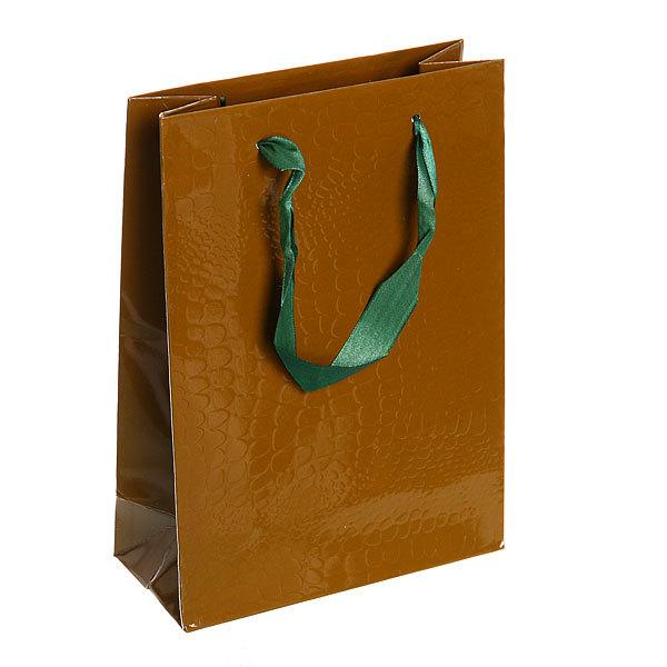 Пакет подарочный ″Элегантный″ 25*18*8 2503С зеленый купить оптом и в розницу